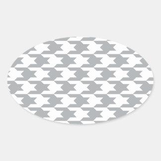 Houndstooth Pattern 1 Paloma Oval Sticker