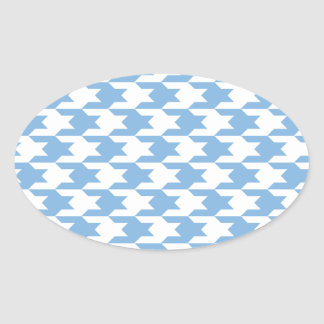 Houndstooth Pattern 1 Placid Blue Stickers