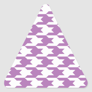 Houndstooth Pattern 1 Radiant Orchid Triangle Sticker