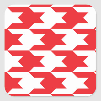 Houndstooth Pattern 1 Red Stickers