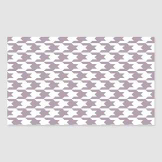 Houndstooth Pattern 1 Sea Fog Rectangle Stickers