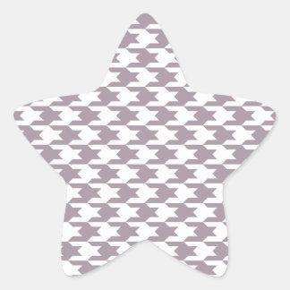 Houndstooth Pattern 1 Sea Fog Sticker