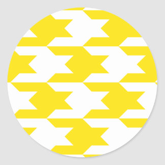 Houndstooth Pattern 1 Yellow Sticker