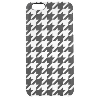 Houndstooth Pattern Black and White Clear iPhone 6 Plus Case