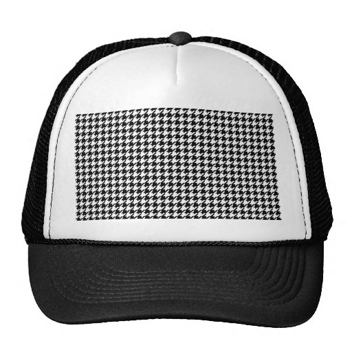Houndstooth pattern - Black and white Mesh Hat