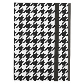 Houndstooth pattern black and white iPad air covers