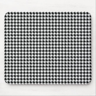 Houndstooth pattern - Black and white Mouse Mat