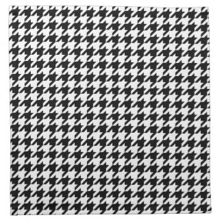 Houndstooth Pattern Black and White Napkin