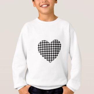 houndstooth pattern black and white sweatshirt