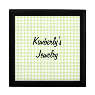Houndstooth pattern - girly green gift box