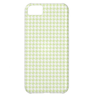Houndstooth pattern - girly green iPhone 5C case