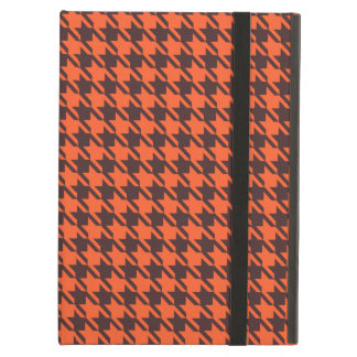 Houndstooth Pattern in Brown and Orange iPad Air Cover