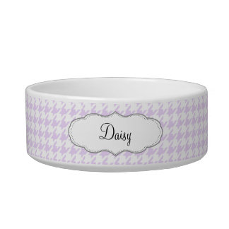 Houndstooth pattern - lilac purple bowl