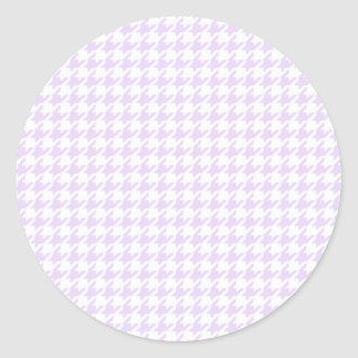 Houndstooth pattern - lilac purple stickers