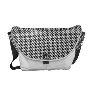 Houndstooth Pattern Messenger Bag