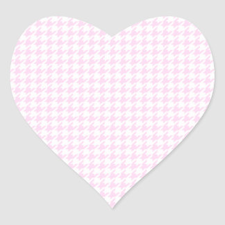 Houndstooth pattern - pastel pink stickers
