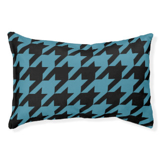 Houndstooth Pet Bed (Teal)
