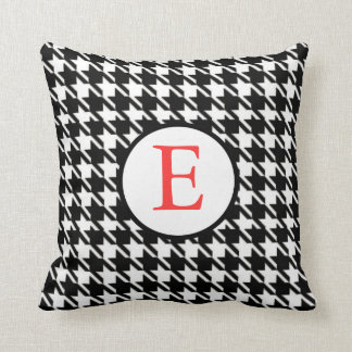 Houndstooth Pillow With Initial
