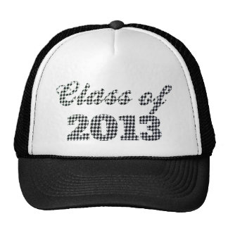 Houndstooth Print Class of 2013 Mesh Hat