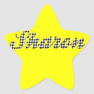 Houndstooth Print Name Sharon Stickers