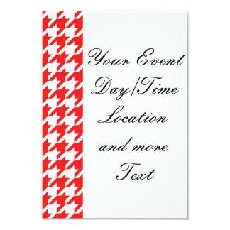 houndstooth red (I) 9 Cm X 13 Cm Invitation Card