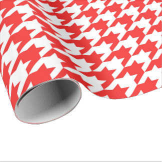 houndstooth red (I) Wrapping Paper
