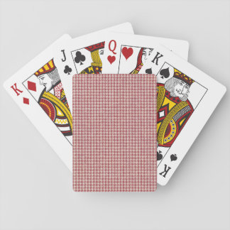 Houndstooth Red Pattern Playing Cards