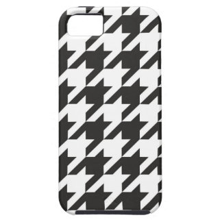 Houndstooth seamless grey, black and white pattern iPhone 5 case