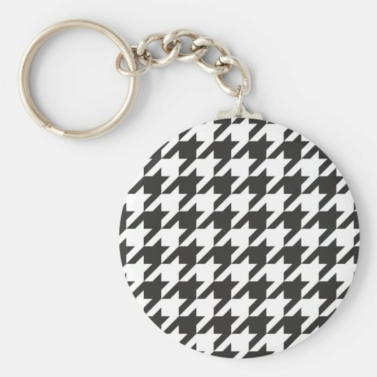 Houndstooth seamless grey, black and white pattern key
