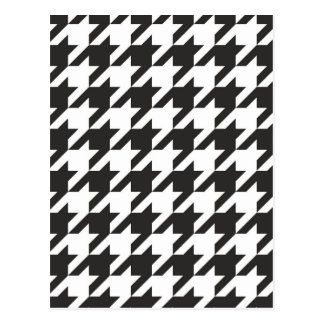 Houndstooth seamless grey, black and white pattern postcard