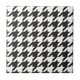 Houndstooth seamless grey, black and white pattern tile