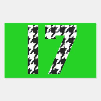 Houndstooth Seventeen Rectangle Sticker