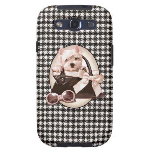 Houndstooth Westie puppy Galaxy SIII Case