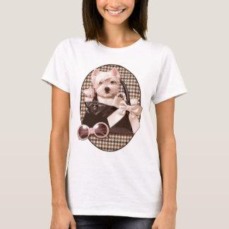 Houndstooth Westie puppy T-Shirt