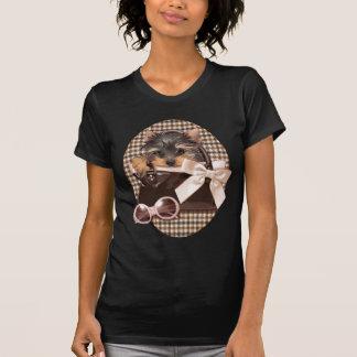 Houndstooth Yorkie Puppy T-Shirt