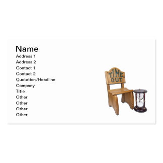 Hour Glass Next to Time Out Chair Business Card Template