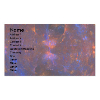 """Hourglass Cave"" Fractal Art Double-Sided Standard Business Cards (Pack Of 100)"