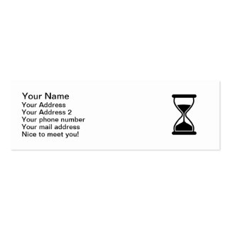 Hourglass Clock Pack Of Skinny Business Cards