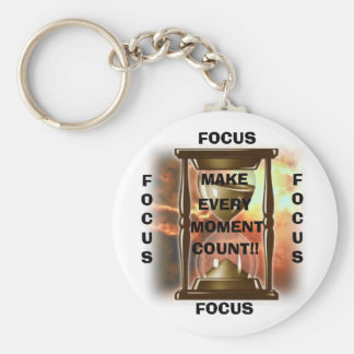 Hourglass, MAKE, EVERY, MOMENT, COUNT!!, FOCUS,... Key Ring