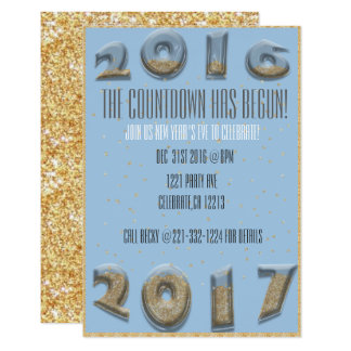 Hourglass new year countdown card
