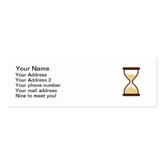 Hourglass Sand glass Pack Of Skinny Business Cards