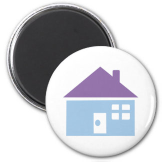 House 6 Cm Round Magnet