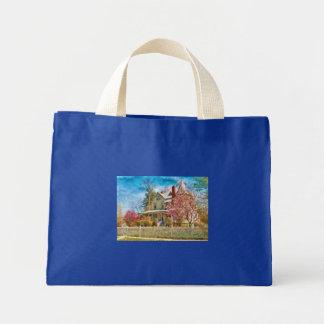 House - A Victorian Springtime Canvas Bags