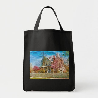 House - A Victorian Springtime Grocery Tote Bag