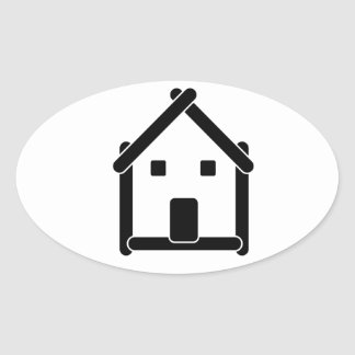 House abstract real estate countryside oval sticker