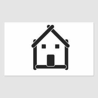 House abstract real estate countryside rectangular sticker