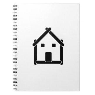 House abstract real estate countryside spiral notebook