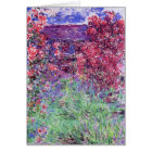 House Among the Roses, Claude Monet Card