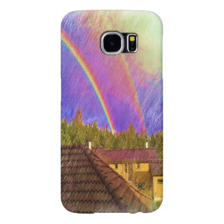House and rainbow samsung galaxy s6 cases