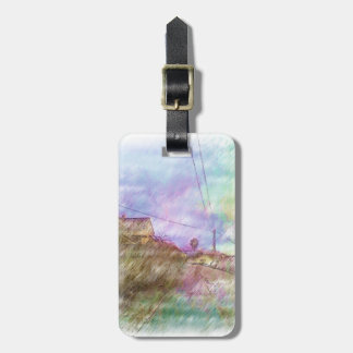 House and road luggage tag